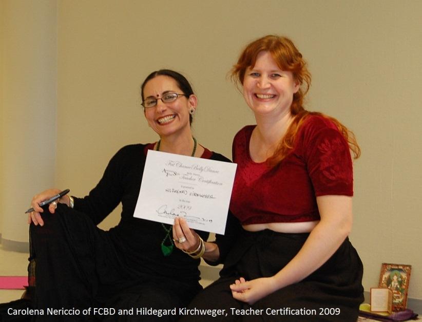 Carolena Nericcio, Teaching Training 2009