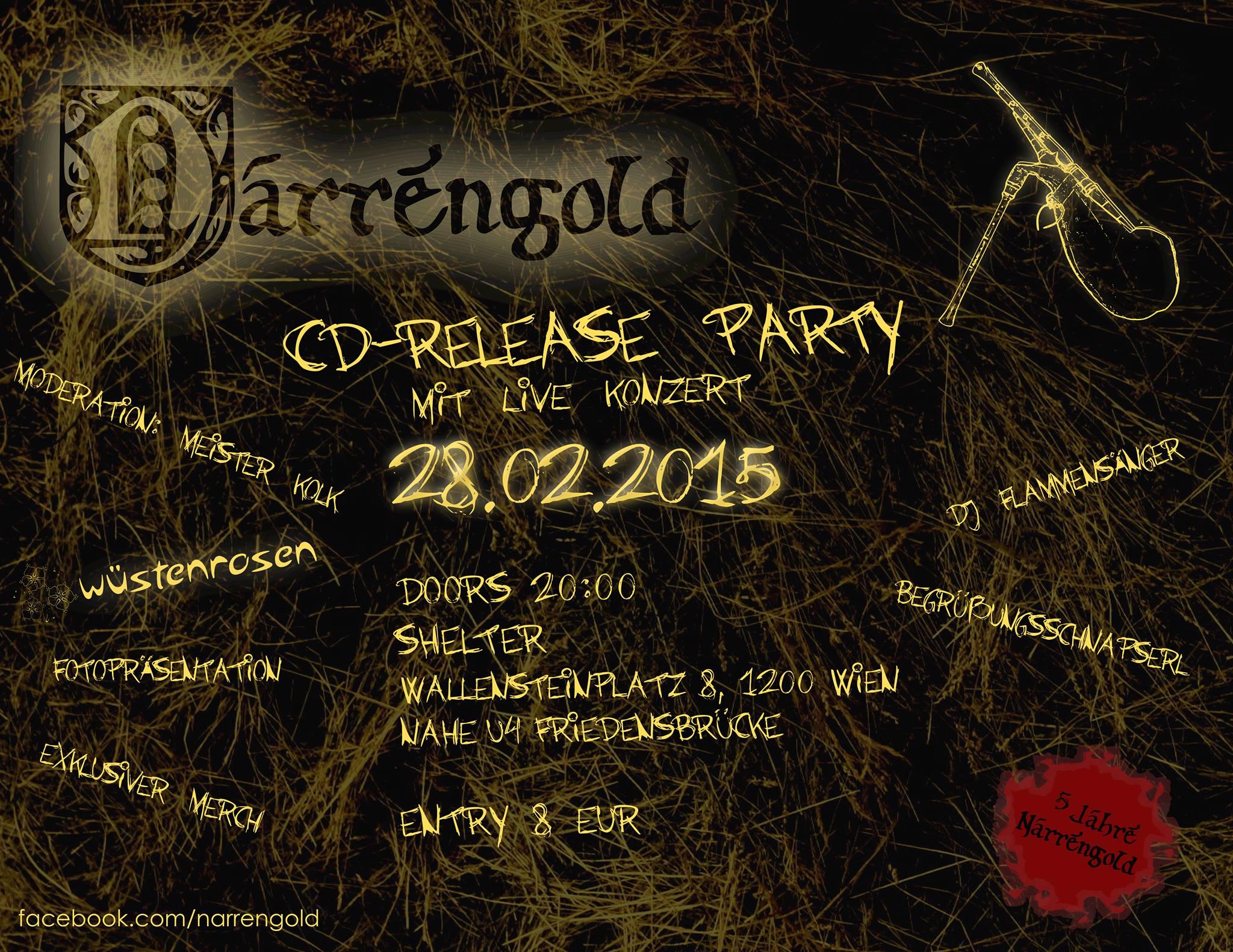 Narrengold CD-Release Party am 28. Februar 2015